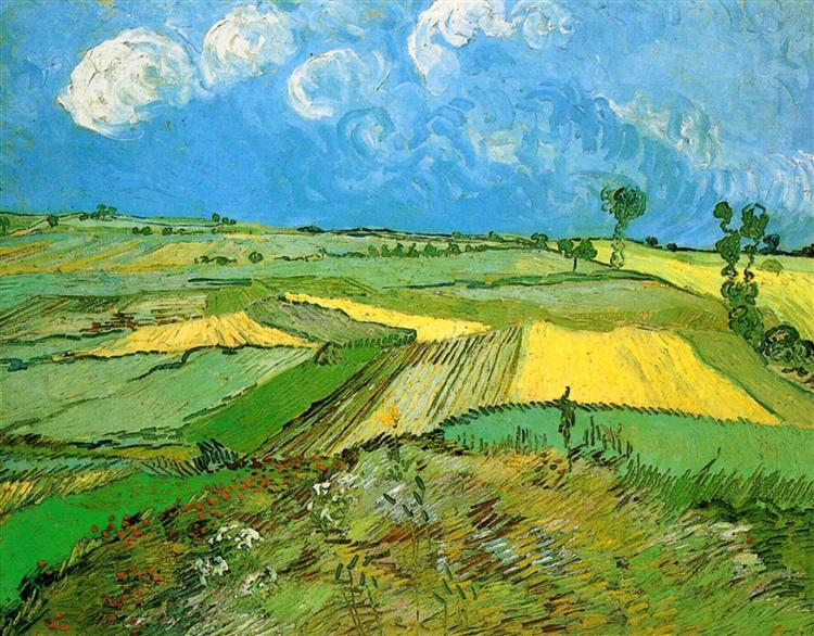 Wheat Fields at Auvers Under Clouded Sky, 1890 - Vincent van Gogh