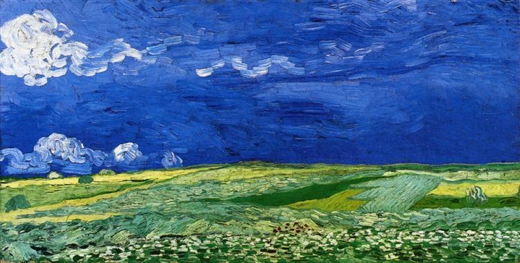Wheatfields under Thunderclouds, 1890 - Vincent van Gogh