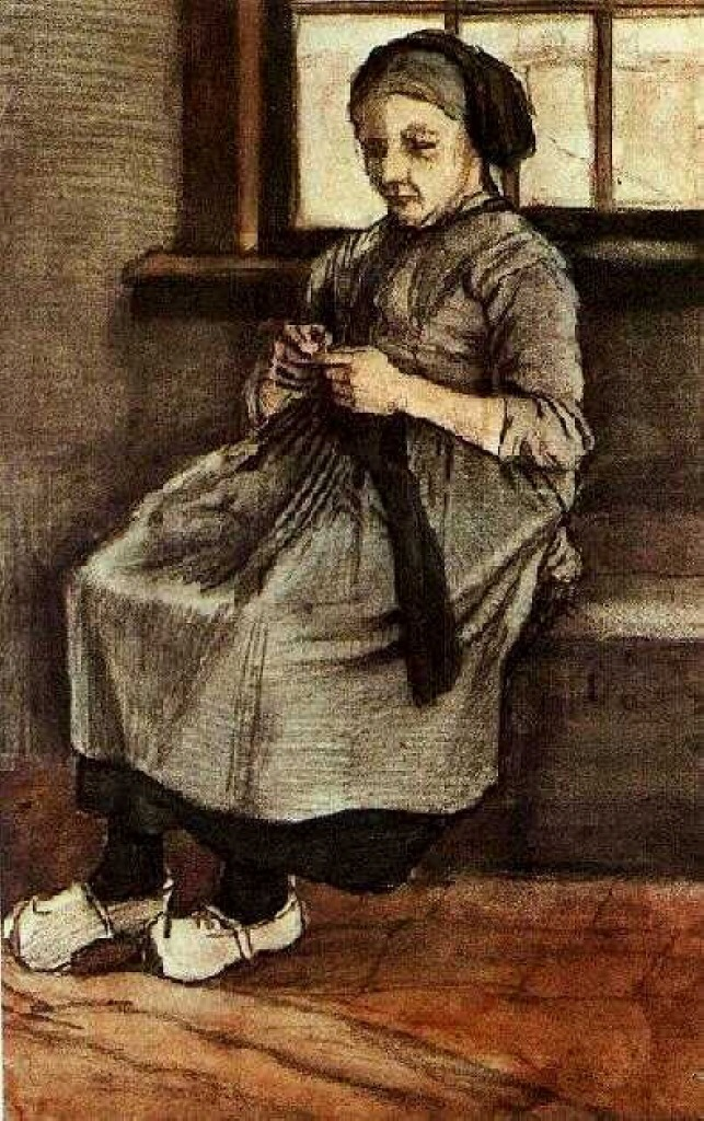 Woman Mending Stockings, 1881