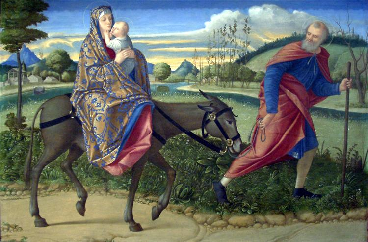 The Flight into Egypt, 1500 - Vittore Carpaccio
