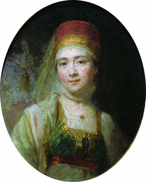 Christina, the Peasant Woman from Torzhok, c.1795 - Wladimir Lukitsch Borowikowski