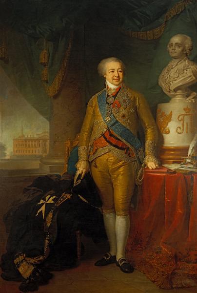 Портрет графа Александра Куракина, 1801 - 1802 - Владимир Боровиковский
