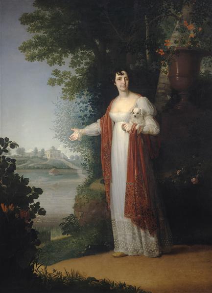 Portrait of D.A. Derzhavina, 1813 - Vladímir Borovikovski