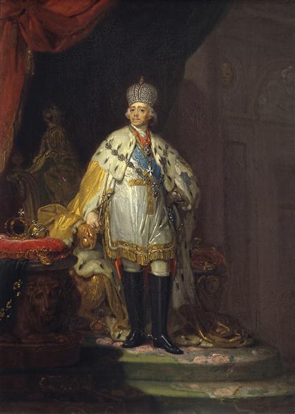 Portrait of Emperor Paul I - Vladimir Borovikovsky