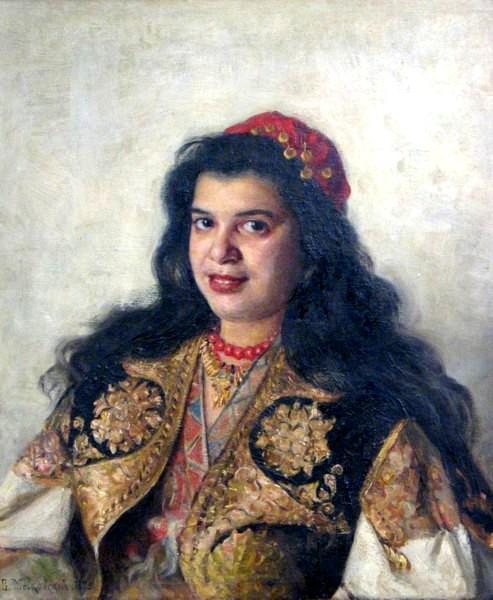 A gypsy lady, 1875 - Vladímir Makovski