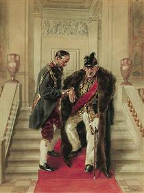 On the grand staircase - Vladímir Makovski