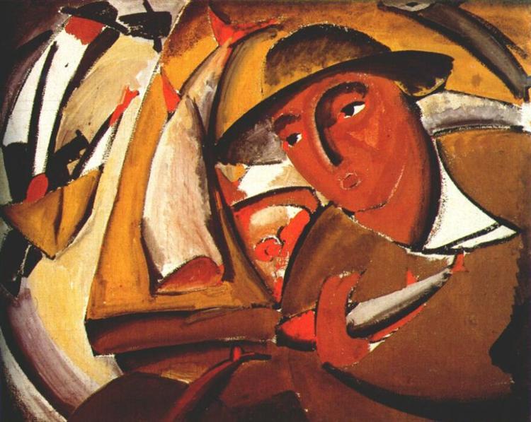 The Fishmonger, 1911 - Vladímir Tatlin