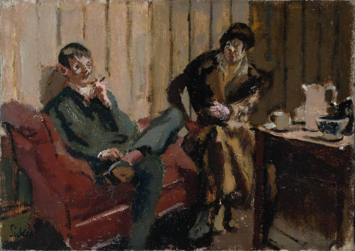 The Little Tea Party Nina Hamnett and Roald Kristian, 1915 - 1916 - Walter Sickert