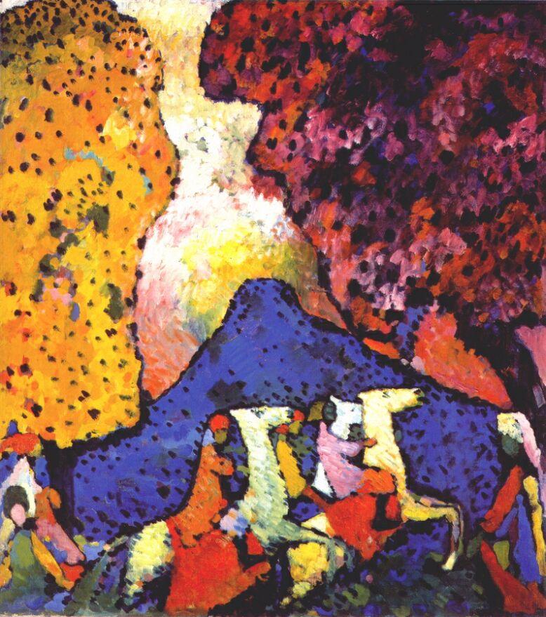 Blue Mountain Painting Kandinsky