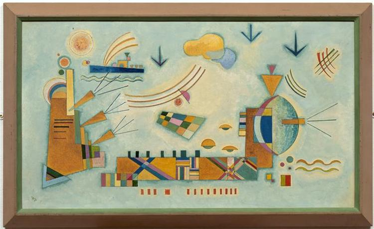 Mild process, 1928 - Wassily Kandinsky