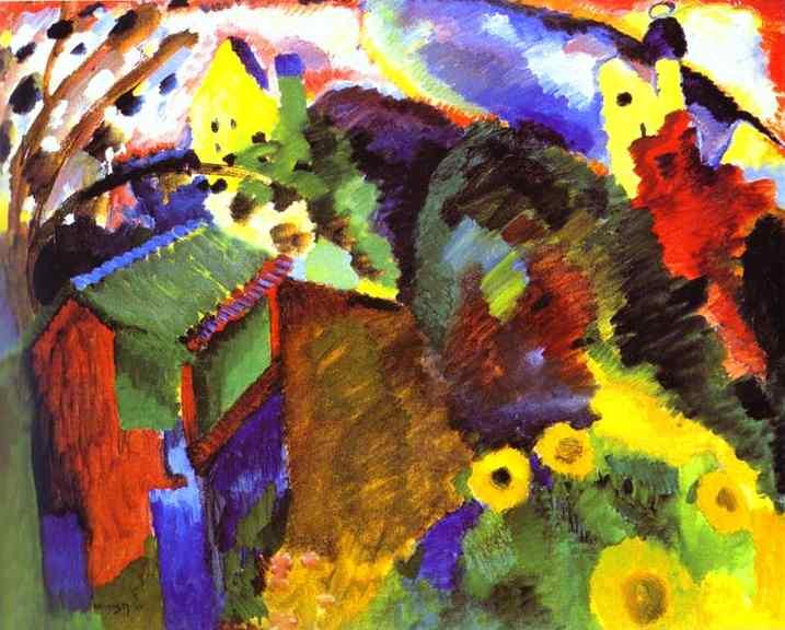 Murnau Garden, 1910 - Wassily Kandinsky