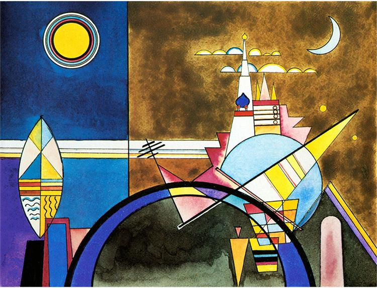 Picture XVI,  The Great Gate of Kiev. Stage set for Mussorgsky's Pictures at an Exhibition in Friedrich Theater, Dessau. - Kandinsky Wassily