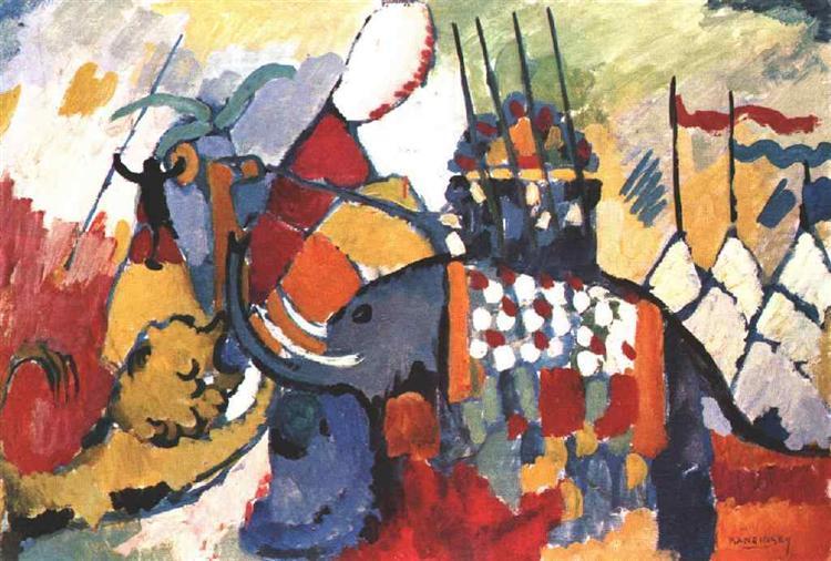 The elephant, 1908 - Wassily Kandinsky