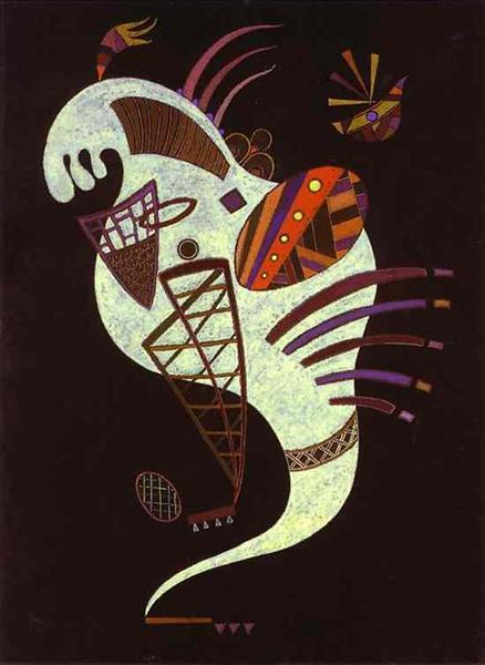 White figure, 1943 - Wassily Kandinsky