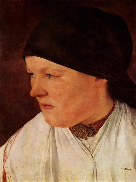 Kopf eines Bauernmädchens, 1879 - Wilhelm Leibl