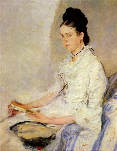 Porträt der Rosine Fischler, Gräfin Treuberg, 1878 - Wilhelm Leibl