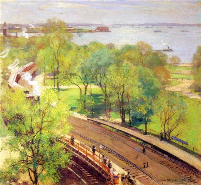 Battery Park, Spring, 1924 - Willard Metcalf