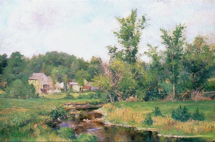 Farm Scene - Willard Metcalf