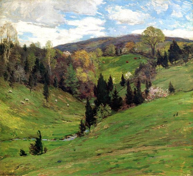 Flying Shadows - Willard Metcalf