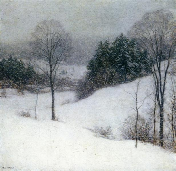 The White Veil, 1909 - Willard Metcalf