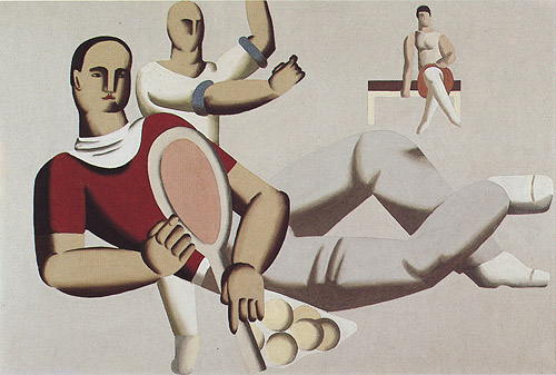 Tennis Players, 1929 - Willi Baumeister