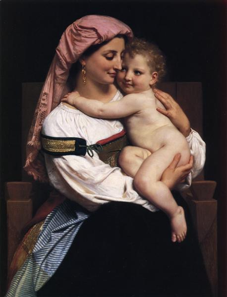 Woman of Cervara and Her Child, 1861 - William-Adolphe Bouguereau