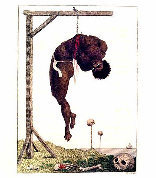 A Negro Hung Alive by the Ribs to a Gallows, 1796 - William Blake