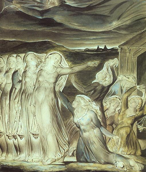 The parable of the wise and foolish virgins, 1822 - William Blake