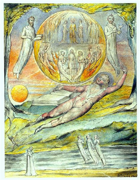 The Youthful Poet`s Dream, 1816 - 1820 - William Blake