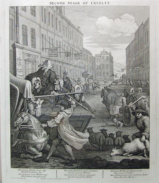 Second stage of cruelty, 1751 - William Hogarth
