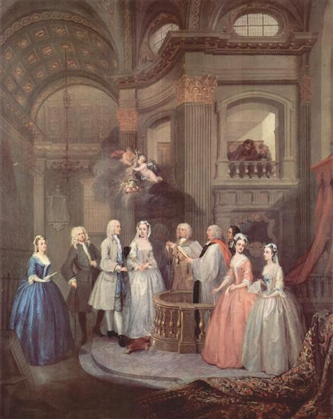 The Wedding of Stephen Beckingham and Mary Cox, c.1729 - William Hogarth