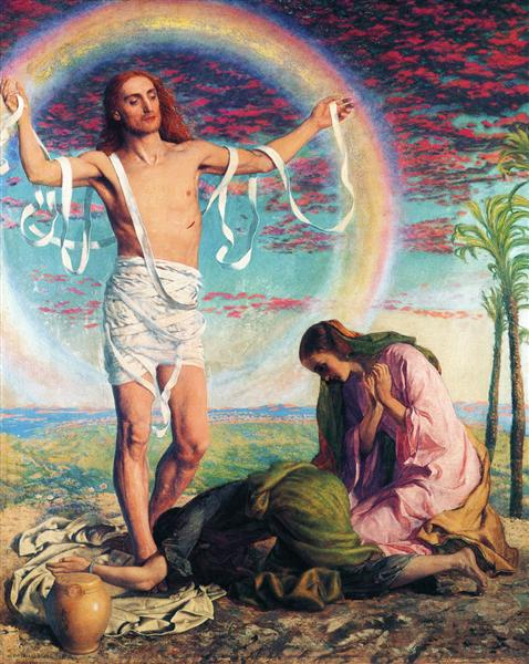 Christ and the two Marys - William Holman Hunt