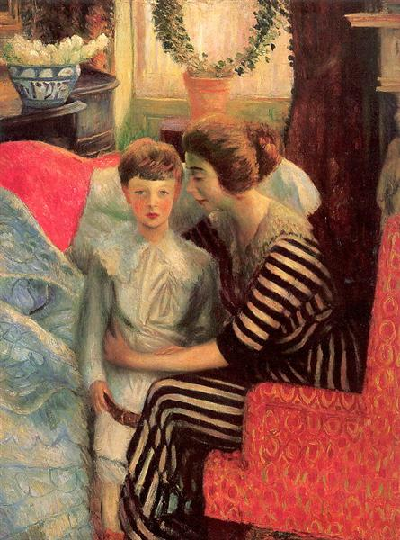 The artist's wife and son, 1911 - William James Glackens