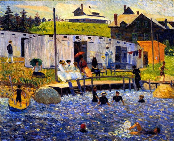 The Bathing Hour, 1910 - William James Glackens