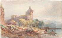 A Ruined Castle on a Lake - Вільям Лейтон Лейтч