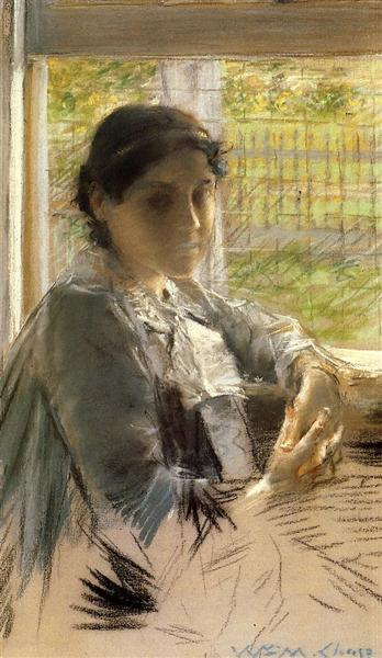 At the Window - William Merritt Chase