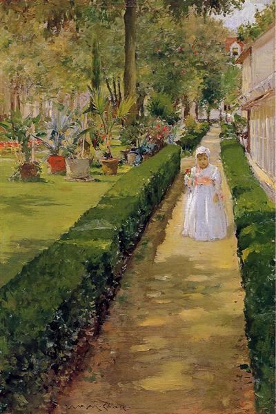 Child  on a Garden Walk, c.1888 - William Merritt Chase