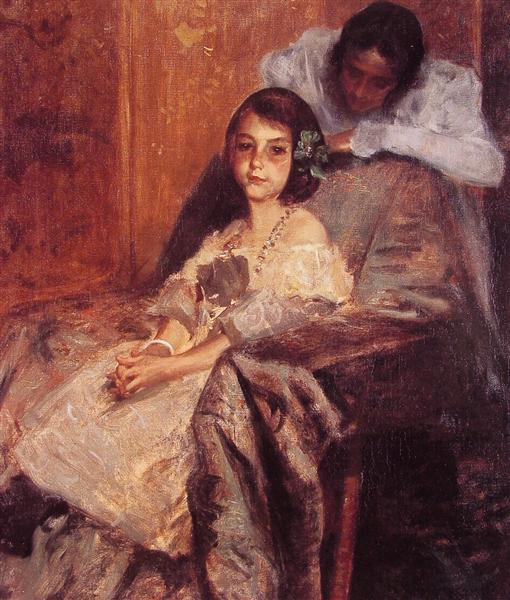 Dorothy and Her Sister, 1901 - William Merritt Chase