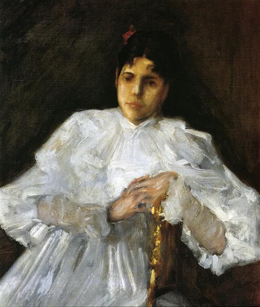 Girl in White, 1890 - William Merritt Chase