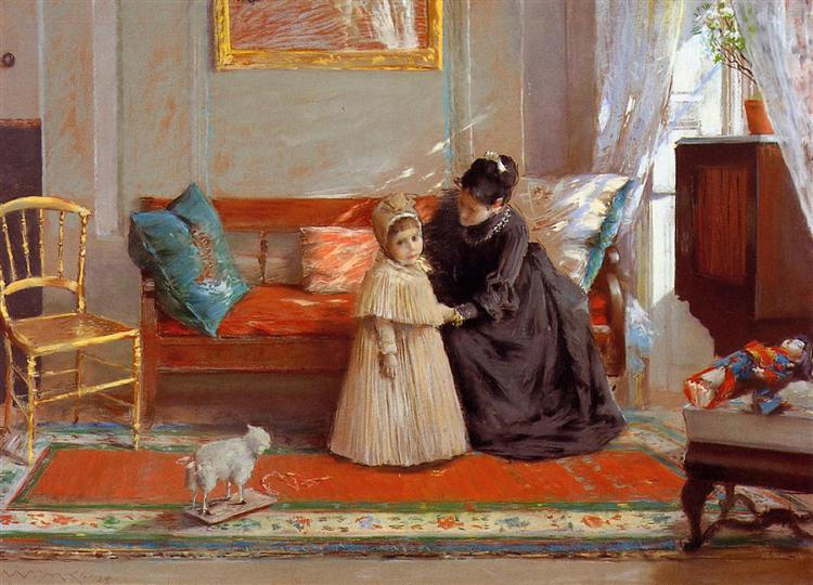 I am Going to See Grandma (aka Mrs. Chase and Child), 1889 - William Merritt Chase