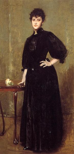 Lady in Black, 1888 - William Merritt Chase
