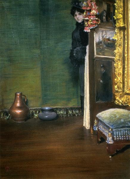May I Come In, c.1883 - William Merritt Chase