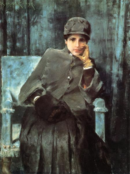 Meditation (Portrait of the Artist's Wife), 1885 - 1886 - William Merritt Chase