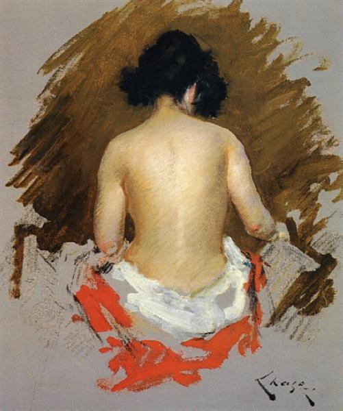 Nude, 1888 - William Merritt Chase