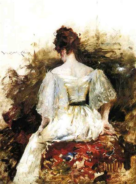 Portrait of a Woman - The White Dress, 1888 - 1890 - William Merritt Chase