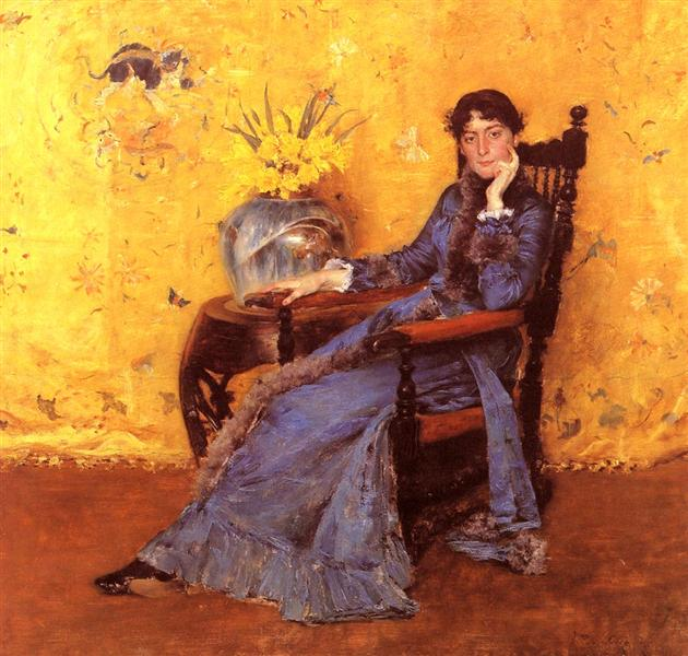 Portrait of Miss Dora Wheeler, 1883 - Уильям Меррит Чейз