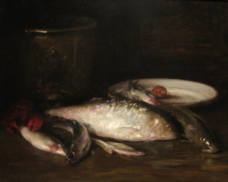 Still-Life with Fish - William Merritt Chase