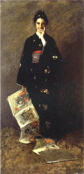The Japanese Book, 1900 - William Merritt Chase