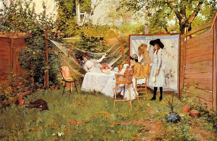 The Open Air Breakfast, 1888 - William Merritt Chase
