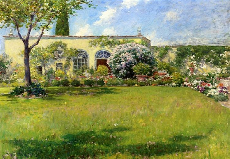 The Orangerie, c.1909 - William Merritt Chase
